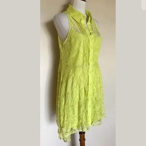 Finders Keepers Shirt Dress Electric Lime
